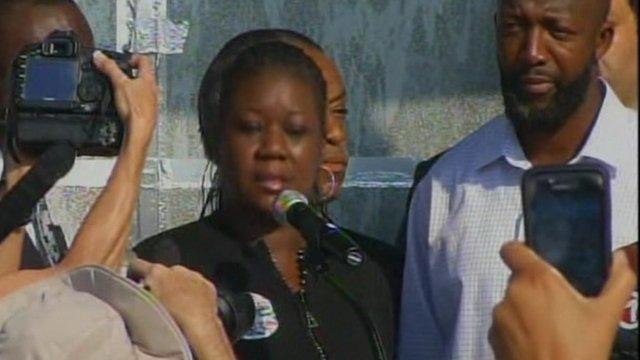 Parents of Trayvon Martin, Sybrina Fulton and Tracy Martin