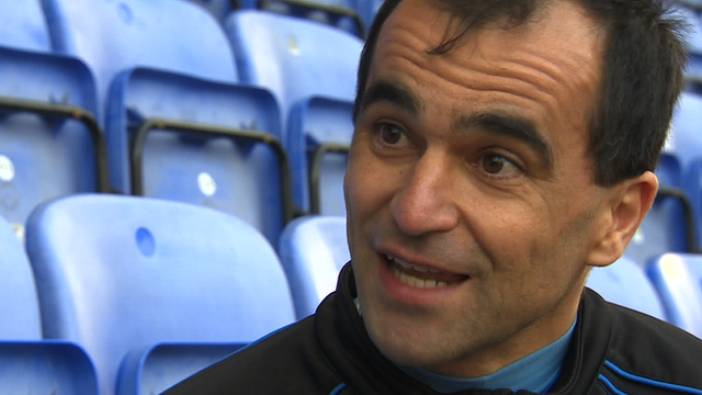 Frida Focus with Wigan boss Roberto Martinez