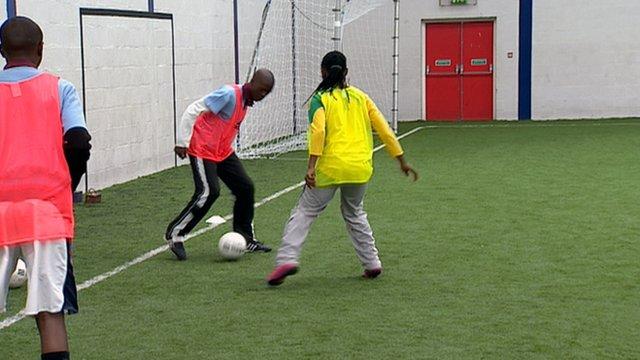 The Tsakane teenagers at the Highland Football Academy in Dingwall