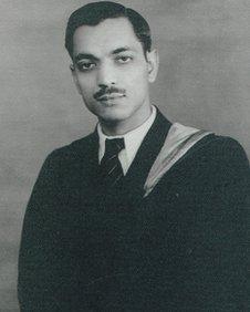 Dinanath Malhotra at university in his youth