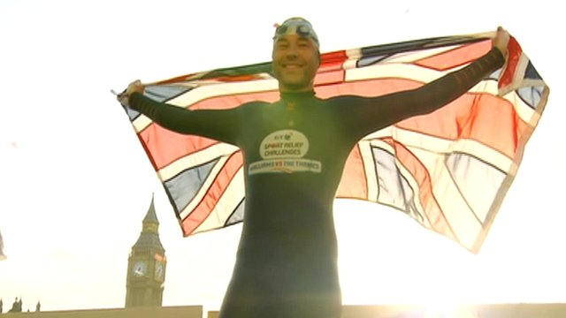 David Walliams, who raised one million pounds by swimming the length of the river Thames