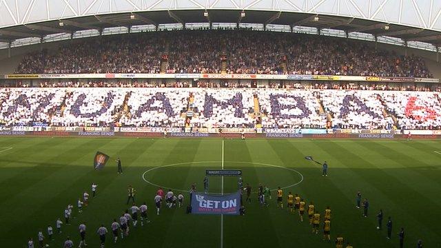Bolton's pre-match Muamba tribute