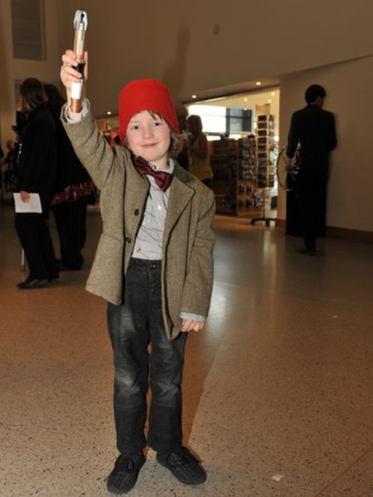 ... Young Doctor Who fan dressed as the Doctor  sc 1 st  BBC & BBC News - Doctor Who convention attracts fans to Cardiff