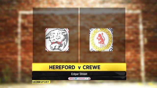 Hereford 0-1 Crewe