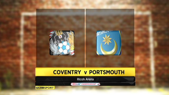Coventry 2-0 Portsmouth