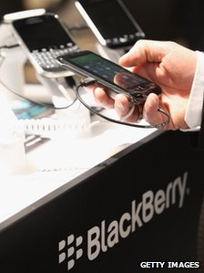 Blackberry display