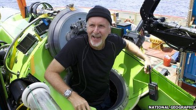 Film director James Cameron has returned to the surface after becoming the first person in 50 years to reach the deepest point in the ocean, the Mariana Trench.
