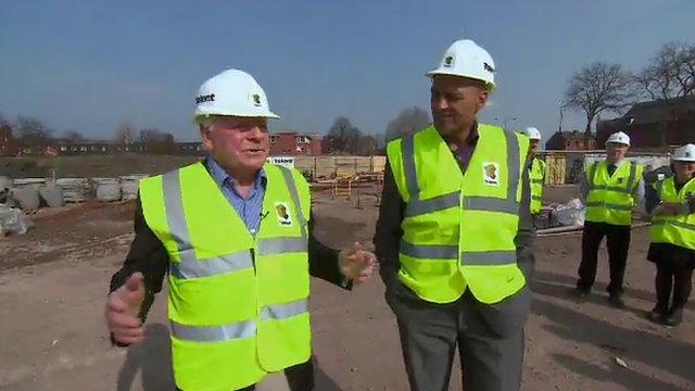 Wigan owner Dave Whelan with Damian Johnson