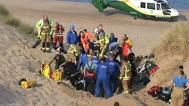 Sand dune rescue