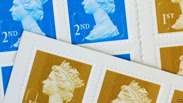 First and second class stamps