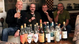 Participants in World Whisky Day
