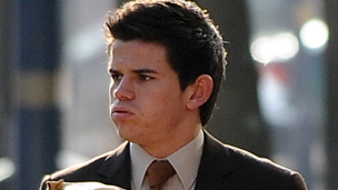 Liam Stacey arriving in court at a previous hearing