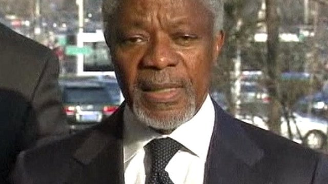 United Nations and Arab League envoy, Kofi Annan