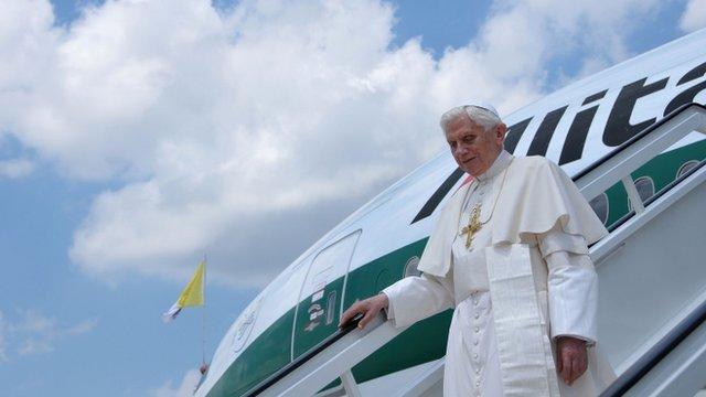 Pope Benedict XVI arrives in Havana