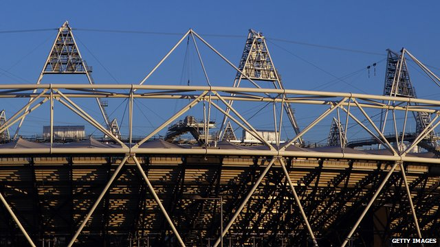 view of the London 2012 Olympic stadium