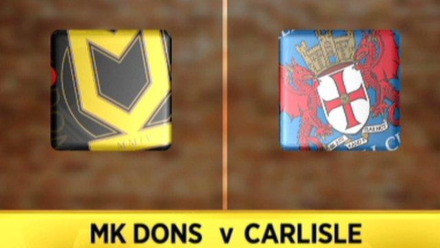 MK Dons 1-2 Carlisle