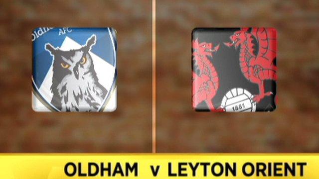 Oldham 0-1 Leyton Orient