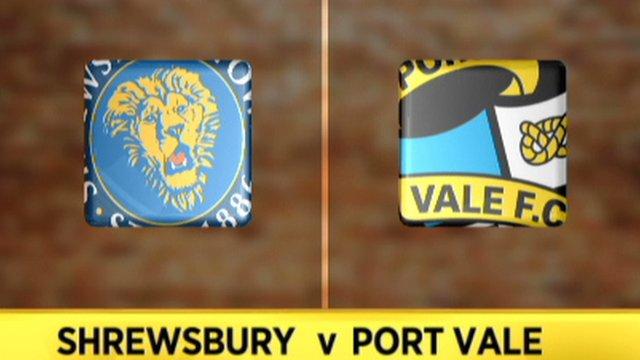 Shrewsbury A-A Port Vale