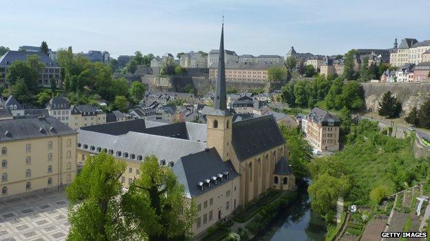 Luxembourg city skyline