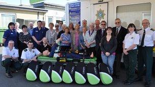 Charities present equipment to health service