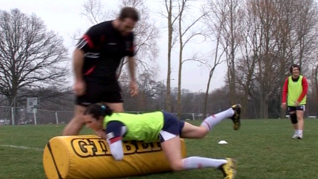 Handball player tries rugby