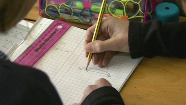 School pupils working