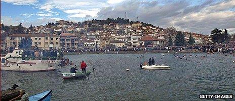 Macedonian town of Ohrid