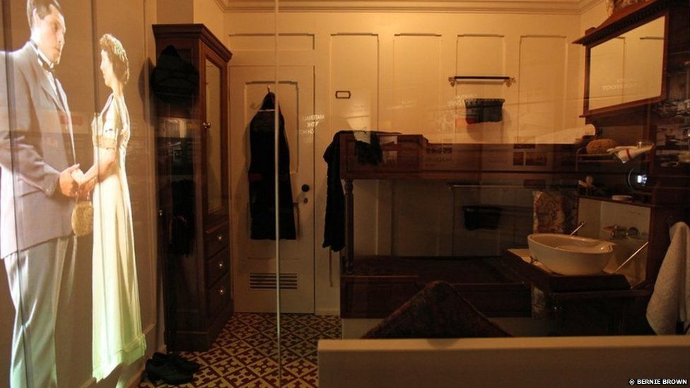 Bbc news in pictures titanic belfast for First class cruise ship cabins