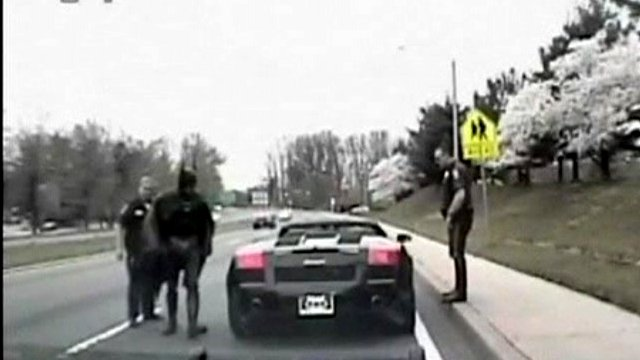 'Batman' pulled over