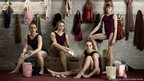 From left Hannah Whelan, Jenni Pinches, Beth Tweddle and Rebecca Tunney, photographed by Anderson & Low