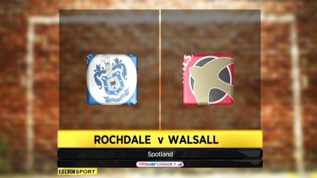 Rochdale 3-3 Walsall
