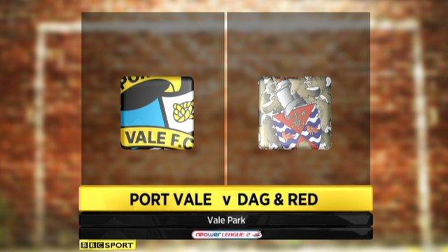 Port Vale 0-1 Dagenham & Redbridge