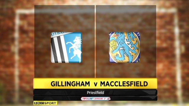 Highlights: Gillingham 2-0 Macclesfield