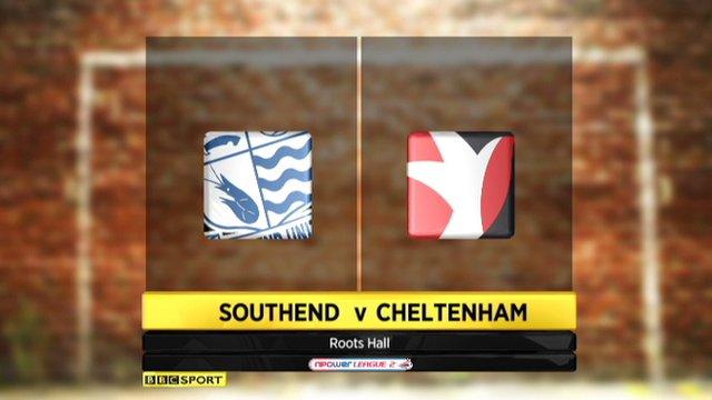 Highlights: Southend 4-0 Cheltenham