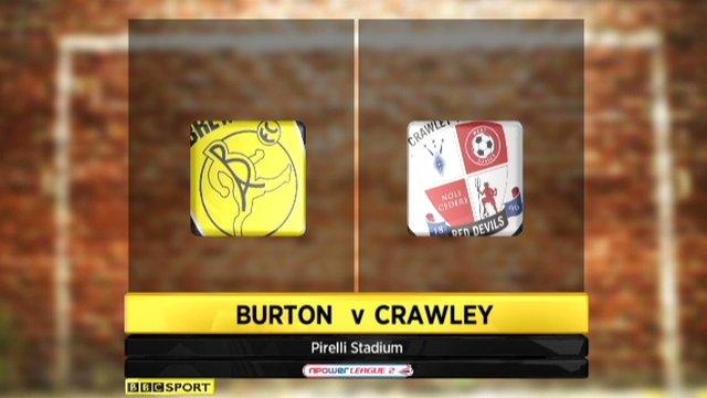 Burton Albion 0-0 Crawley