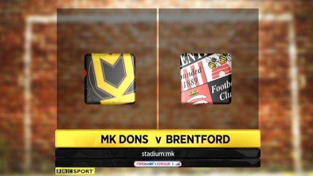 MK Dons 1-2 Brentford