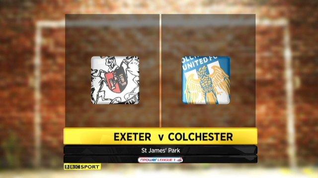 Exeter 1-1 Colchester