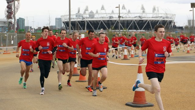 Around 5000 members of the public took part in the National Lottery Olympic Park Run