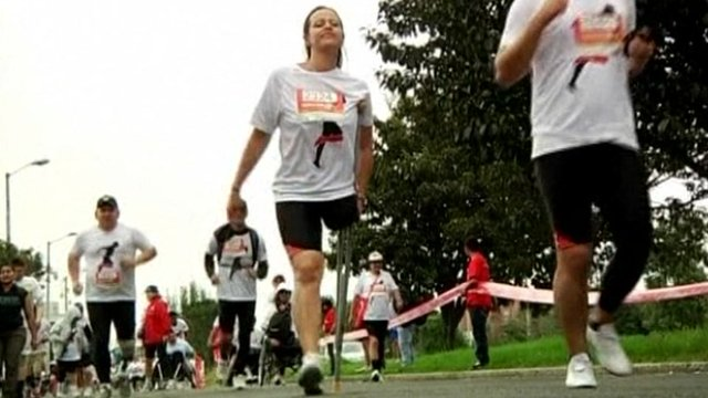 People taking part in the marathon