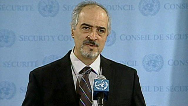 Syrian Ambassador to UN Bashar Ja'afari