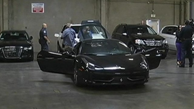 stolen luxury cars seized by us customs officers bbc news. Black Bedroom Furniture Sets. Home Design Ideas