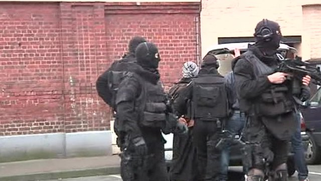 Police in France conducted fresh raids