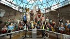 The largest collection of merchant navy figureheads in the world at the Cutty Sark in Greenwich