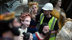 Restoring naval figureheads at the Cutty Sark site in Greenwich
