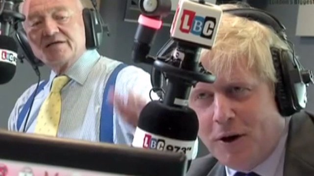Ken Livingstone and Boris Johnson clashing during a radio phone-in