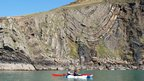 Rock strata on the coast line at north Pembrokeshire
