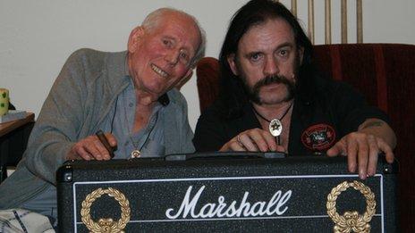 Jim Marshall with Motorhead's Lemmy