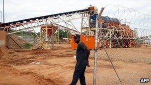 A diamond mine in Zimbabwe