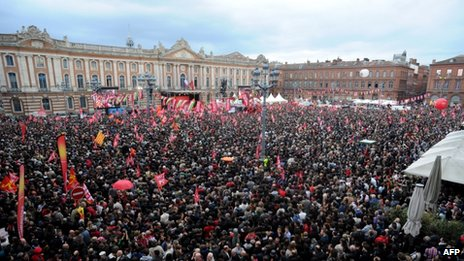 Melenchon rally in Toulouse (5 April)