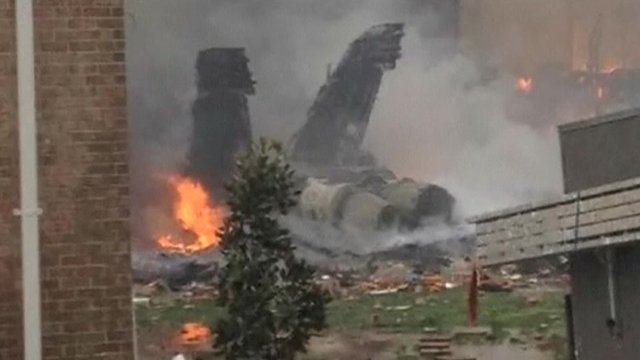 US navy jet crash